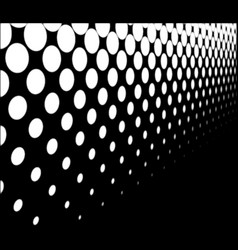 half tone perspective vector image vector image