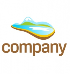 nature travel logo vector image