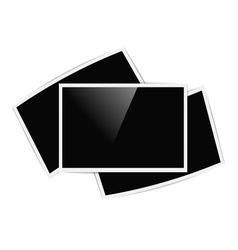 retro horizontal photo frames vector image vector image