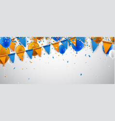 banner with flags and balloons vector image vector image