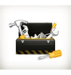 Black toolbox vector image vector image