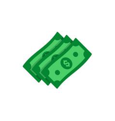 dollar banknotes flat icon money cash symbol vector image