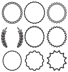 Frame round set decoration template vector image vector image
