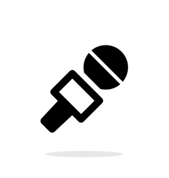 Journalist microphone icon on white background vector image vector image