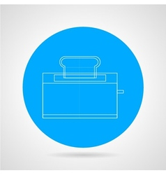 Outline icon for toaster vector image