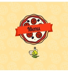 Pizza menu cover vector image vector image