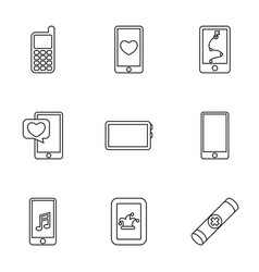 9 cell icons vector