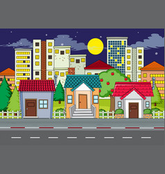 a flat urban city scene vector image