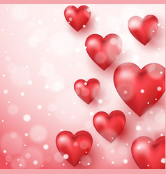 Abstract background to valentine s day vector