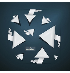 Abstract Paper Arrows Set vector image vector image