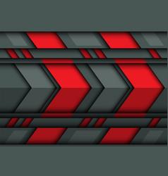 abstract red gray arrow metal 3d design vector image