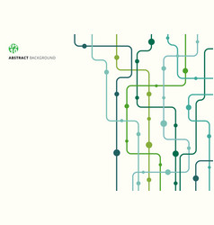 Abstract technology background green color curved vector