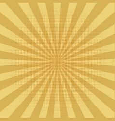 abstract yellow sun rays background vector image