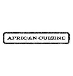african cuisine watermark stamp vector image