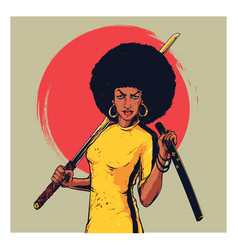 Afro girl vector