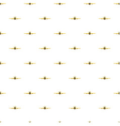 Airplane rear view pattern vector