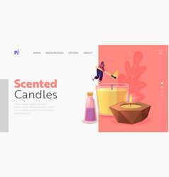 Aroma therapy relaxation landing page template vector