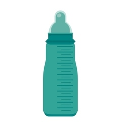 baby milk bottle icon vector image