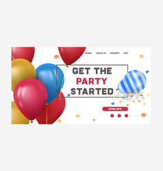 baloons for happy birthday or celebration party vector image