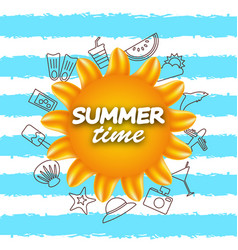 Banner for summer time vacation background with vector