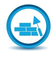 Blue Building icon vector image