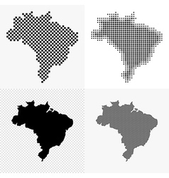 Brazil map set vector