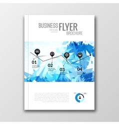 Business design background Cover book report vector