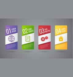 business infographics cards or labels icons vector image