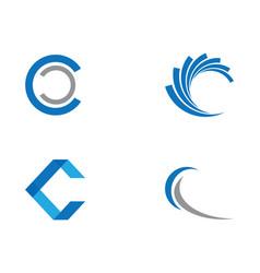 C letter logo template vector