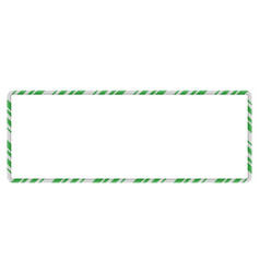 candy cane frame border rectangle shape christmas vector image