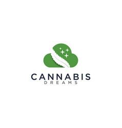Cannabis and dream logo vector