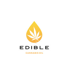 cannabis oil logo icon vector image