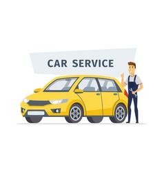 Car service - modern cartoon character vector