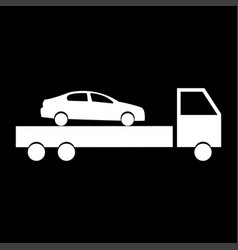 Car service the white color icon vector