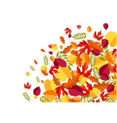 card with stylized autumn foliage vector image