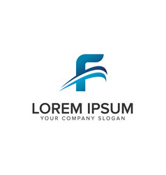 cative modern letter f logo design concept vector image