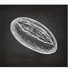 Chalk sketch loaf vector