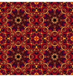 Colorful decorative card with mandala of swirling vector