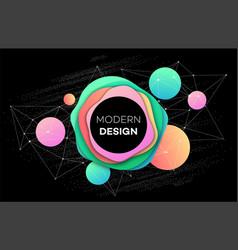 Colourful brochure flyer modern design template vector
