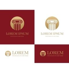 Column round logo vector
