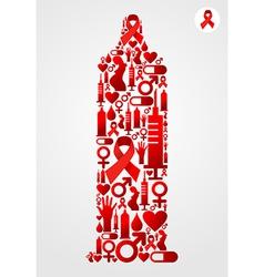 Condom AIDS symbol vector image