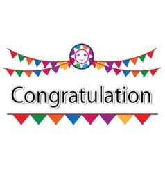 Congratulation on white background vector