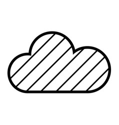 Contour cloud weather to natural environment care vector