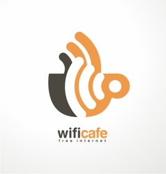 Creative logo design template for cafe vector image