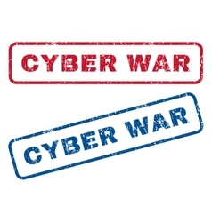 Cyber War Rubber Stamps vector image