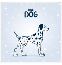Dog Dalmatian vector image