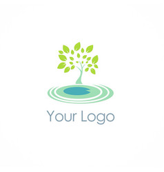 eco green tree logo vector image