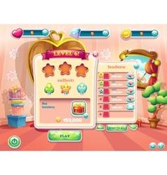 Example of user interface screens beginning vector