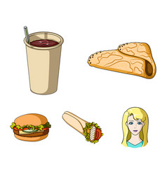 fast meal eating and other web icon in cartoon vector image