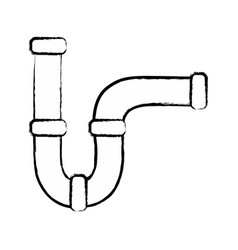 Figure plumbing tube repair equipment construction vector